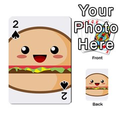 Kawaii Burger Playing Cards 54 Designs