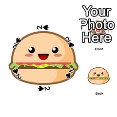 Kawaii Burger Playing Cards 54 (Round)