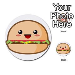 Kawaii Burger Multi-purpose Cards (Round)