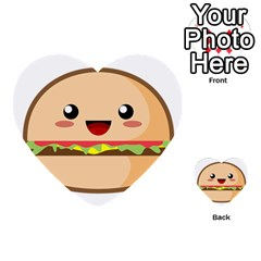 Kawaii Burger Multi Purpose Cards (heart)