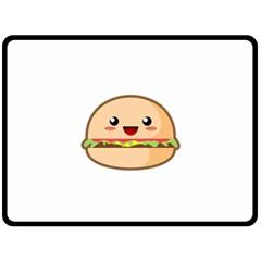 Kawaii Burger Fleece Blanket (large)