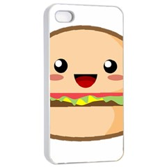 Kawaii Burger Apple iPhone 4/4s Seamless Case (White)