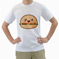 Kawaii Burger Men s T-Shirt (White)