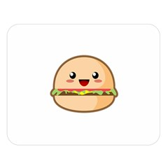 Kawaii Burger Double Sided Flano Blanket (Large)