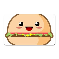 Kawaii Burger Magnet (Rectangular)