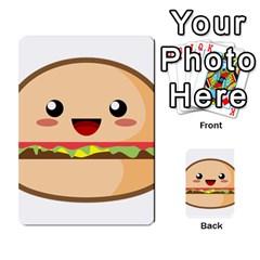 Kawaii Burger Multi Purpose Cards (rectangle)
