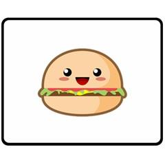 Kawaii Burger Fleece Blanket (Medium)