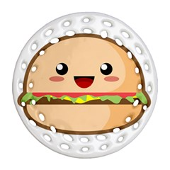 Kawaii Burger Ornament (Round Filigree)