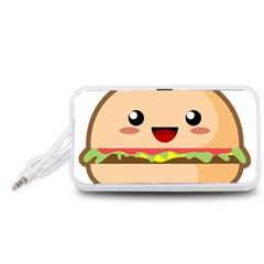 Kawaii Burger Portable Speaker (White)