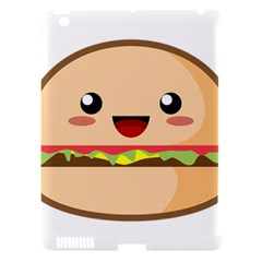 Kawaii Burger Apple iPad 3/4 Hardshell Case (Compatible with Smart Cover)