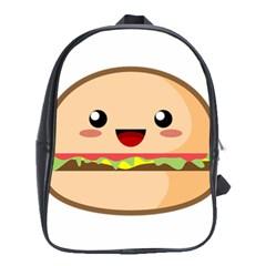 Kawaii Burger School Bags (XL)
