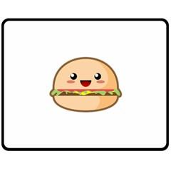 Kawaii Burger Double Sided Fleece Blanket (medium)