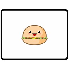 Kawaii Burger Double Sided Fleece Blanket (Large)