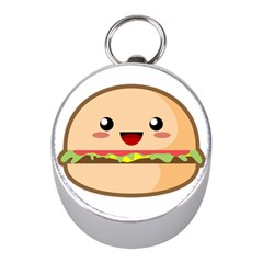 Kawaii Burger Mini Silver Compasses