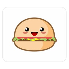 Kawaii Burger Double Sided Flano Blanket (small)