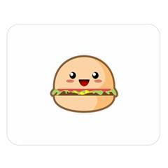 Kawaii Burger Double Sided Flano Blanket (Large)