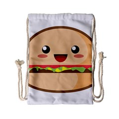 Kawaii Burger Drawstring Bag (Small)