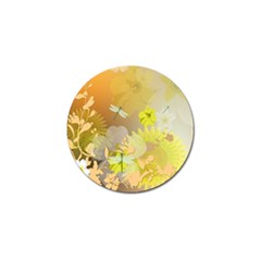 Beautiful Yellow Flowers With Dragonflies Golf Ball Marker (10 pack)