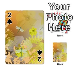 Beautiful Yellow Flowers With Dragonflies Playing Cards 54 Designs