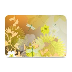 Beautiful Yellow Flowers With Dragonflies Plate Mats