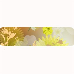 Beautiful Yellow Flowers With Dragonflies Large Bar Mats