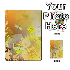 Beautiful Yellow Flowers With Dragonflies Multi-purpose Cards (Rectangle)