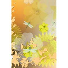Beautiful Yellow Flowers With Dragonflies 5.5  x 8.5  Notebooks