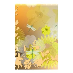 Beautiful Yellow Flowers With Dragonflies Shower Curtain 48  x 72  (Small)