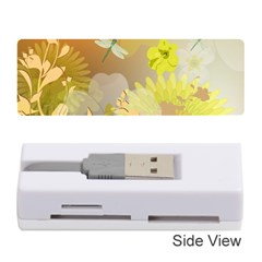 Beautiful Yellow Flowers With Dragonflies Memory Card Reader (stick)