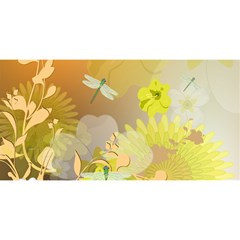 Beautiful Yellow Flowers With Dragonflies YOU ARE INVITED 3D Greeting Card (8x4)