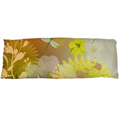Beautiful Yellow Flowers With Dragonflies Body Pillow Cases Dakimakura (Two Sides)