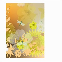 Beautiful Yellow Flowers With Dragonflies Large Garden Flag (Two Sides)