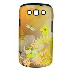 Beautiful Yellow Flowers With Dragonflies Samsung Galaxy S III Classic Hardshell Case (PC+Silicone)