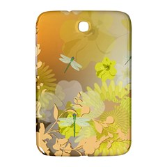 Beautiful Yellow Flowers With Dragonflies Samsung Galaxy Note 8.0 N5100 Hardshell Case