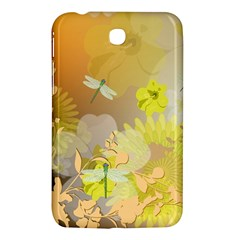 Beautiful Yellow Flowers With Dragonflies Samsung Galaxy Tab 3 (7 ) P3200 Hardshell Case