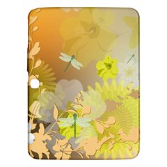 Beautiful Yellow Flowers With Dragonflies Samsung Galaxy Tab 3 (10.1 ) P5200 Hardshell Case