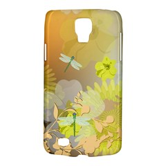 Beautiful Yellow Flowers With Dragonflies Galaxy S4 Active