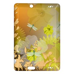 Beautiful Yellow Flowers With Dragonflies Kindle Fire HD (2013) Hardshell Case