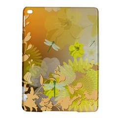 Beautiful Yellow Flowers With Dragonflies iPad Air 2 Hardshell Cases