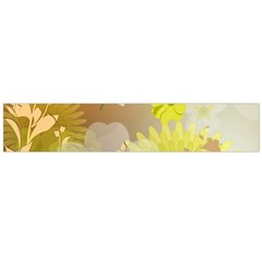 Beautiful Yellow Flowers With Dragonflies Flano Scarf (Large)