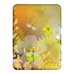 Beautiful Yellow Flowers With Dragonflies Samsung Galaxy Tab 4 (10.1 ) Hardshell Case