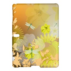 Beautiful Yellow Flowers With Dragonflies Samsung Galaxy Tab S (10.5 ) Hardshell Case