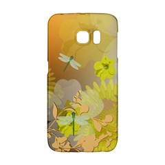 Beautiful Yellow Flowers With Dragonflies Galaxy S6 Edge