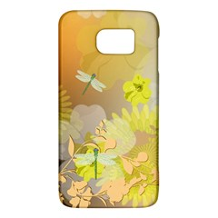 Beautiful Yellow Flowers With Dragonflies Galaxy S6