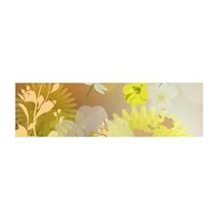 Beautiful Yellow Flowers With Dragonflies Satin Scarf (Oblong)