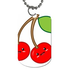 Kawaii Cherry Dog Tag (One Side)