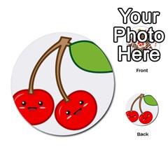 Kawaii Cherry Multi Purpose Cards (round)