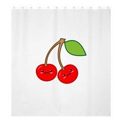 Kawaii Cherry Shower Curtain 66  x 72  (Large)