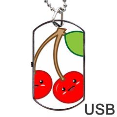 Kawaii Cherry Dog Tag USB Flash (Two Sides)