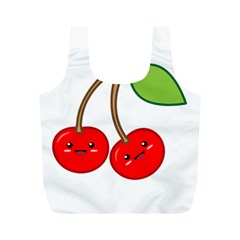 Kawaii Cherry Full Print Recycle Bags (M)
